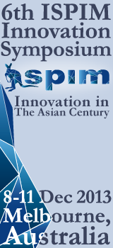 The 6th ISPIM Innovation Symposium – Innovation in the Asian Century