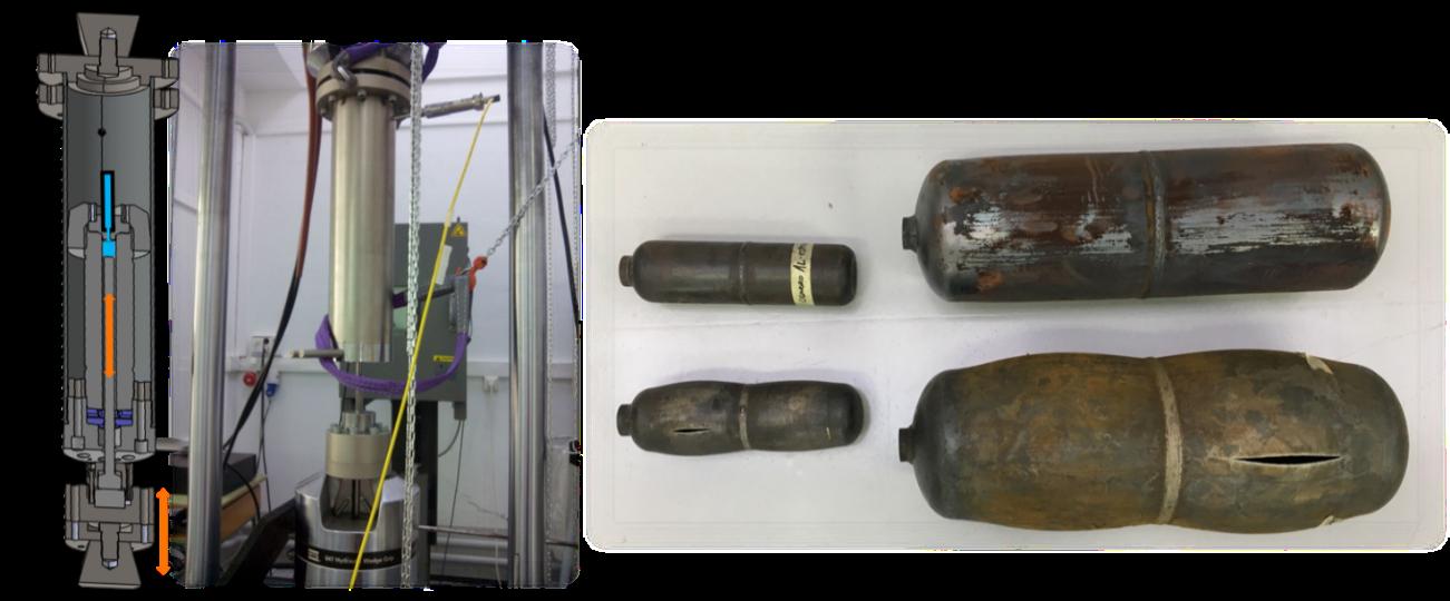 Dispositivo para la evaluación de la integridad estructural de tuberías y elementos de conducción sometidos a alta presión