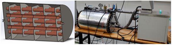 Heat exchanger with energy storage alteration detectors.