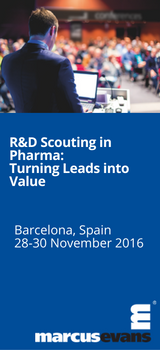 R&D Scouting in Pharma: Turning Leads into Value, 28-30 November 2016,  Barcelona, Spain