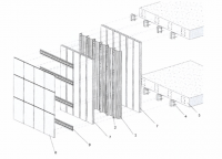 Ventilated facade building system of folded sheet without frame