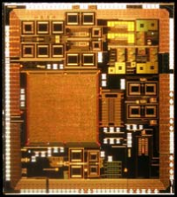 Non-Intrusive and contact less procedure to test and characterize RF and mmW integrated analogue circuits with DC or low frequency temperature measurements with applications to failure analysis