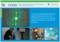 CODA Covert Optical Devices for Authentication of commercial products